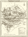 RUTLANDSHIRE. County map. Polling places. Coach roads. DUGDALE 1845 old